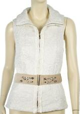 NWT WHITE HOUSE BLACK MARKET EMBROIDERED WHITE PUFFER VEST M
