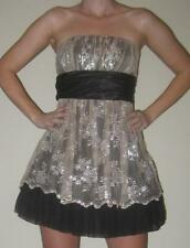 Black Gold Party Prom Short Poofy Strapless Homecoming Dress 3 5 7 9 NWT XS S M