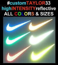 NIKE Swoosh HID REFLECTIVE Decal Sticker Cars Motorcycles Helmet Window AIR MAX