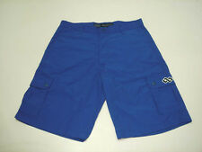 PLAN B SKATEBOARD 100% NYLON CARGO SHORT BLUE