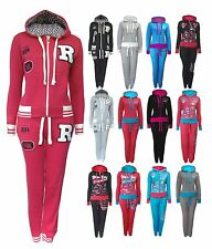 Womens Hooded Jogging Tracksuit Set Hooded Zip Top Varsity New York, R, New 8-16