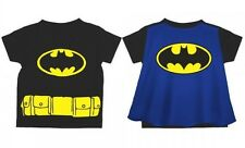 Classic BATMAN Symbol Toddler Costume Tee with Cape t-shirt Size 2T-3T-4T-5T