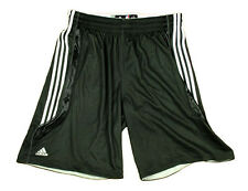 Adidas NBA Men's Blank Athletic Shooting Practice Shorts, Black / White