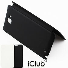 SLIM LEATHER FLIP BATTERY BACK CASE COVER FOR SAMSUNG GALAXY NOTE I9220 N7000