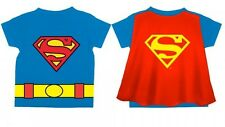 CLASSIC SUPERMAN Toddler Costume Tee t-shirt with Cape Size 2T-3T-4T-5T