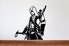 Assassin's Creed Decal, Assassin's Creed Removable Wall Decal,
