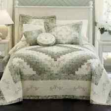 JCPenney home CASSANDRA BEDSPREAD PATCHWORK & Floral Embroidery Retail $180