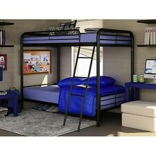 NEW! Dorel Twin Over Twin Metal Bunk Bed Dorm Furniture Child's Bed Frame Ladder