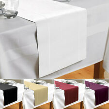 Hem Stitch Table Runner Cream Red Plum Black Or White 180 X 30Cm By Beam Feature
