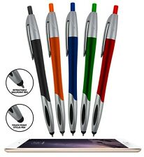 5X STYLUS BALLPOINT PEN FOR ANY TOUCHSCREEN IPHONE IPAD IPOD ANDROID GALAXY