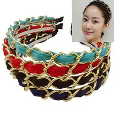 Gossip girl gold chain chiffon classic jewelry headband hair accessories-4 color