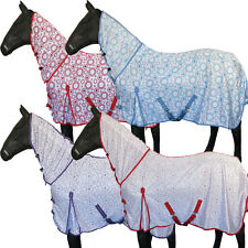 Stable Lightweight Turnout Full Neck Fly Rug Rain Sheet Pony Cob Horse 4'0 -7'0