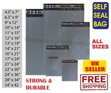 PLASTIC MAILING GREY BAGS MAIL POSTAGE PACKAGING POSTAL POLY  SELF SEAL STRIP