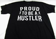 Mens NWT Hustler Short Sleeve Humor T-Shirt Black Proud to be Sz S M L XL 2X 3X