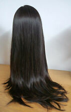 "2# dark brown silky straight full lace wig 100% indian remy human hair 10""-24"""