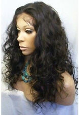 "10""-22"" Malaysia Curly full/front lace wig 100% indian remy human hair 1B/30#"