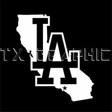 LA Dodgers LOS ANGELES CALIFORNIA VINYL STICKER  DECAL VEHICLE GRAPHIC CUSTOM