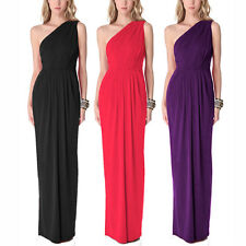 Long Draped One Shoulder Jersey Formal Gown Evening Dress ed4135
