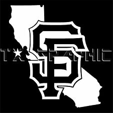 DECAL FOR SF SAN FRANCISCO GIANTS THE STATE OF CALIFORNIA  VINYL STICKER