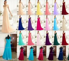 New Hot Elegant Chiffon Formal Prom Party Bridesmaid dresses STOCK Size 6-16