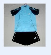 NEW Butterfly 1set Child boy girl Badminton/Table tennis Polo Shirt +shorts #603