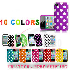 Soft Silicone Polka Dots Series Case Cover For iPhone 4 4S Free P&P