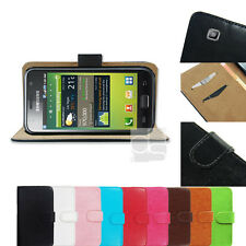 F PU Leather Wallet Skin Case Stand Cover Flip Pouch Samsung Galaxy S 1 i9000