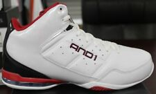And 1 Basketball Sneakers Master Mid White Black Red D1060MWBR Brand New in Box