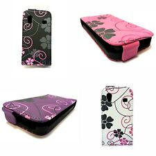 VARIOUS COLOURS FLOWER SWIRL LEATHER FLIP CASE FOR SAMSUNG GALAXY ACE S5830