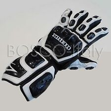-42% BERIK Racing Leather Gloves WHITE-9145 circuit touring city arlenness COM