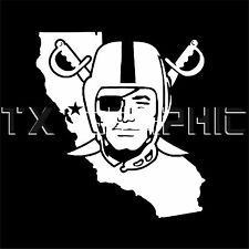 OAKLAND RAIDERS STICKER CALIFORNIA VINYL  DECAL VEHICLE GRAPHIC CUSTOM  BOAT CAR