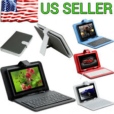 """Cover Case PU Leather Keyboard With Micro USB for 7"""" Inch Tablet PC PDA Android"""