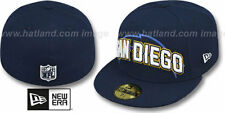 San Diego Chargers NFL Draft Night Hats New Era 59 Fifty Fitted Hat Authentic