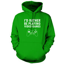 I'd Rather Be Playing video Games - Unisex Hoodie - 9 Colours - Gaming - Game