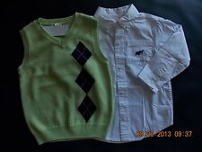 NWT Boy's Gymboree Spring Celebrations Easter sweater vest & shirt ~ 3T 4T 3 4