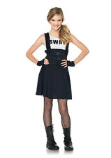 Swat Police Officer Cop Junior Teen Tween Girls Halloween Costume Brand NEW