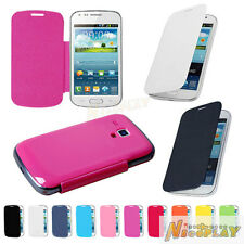 New Leather Flip Back Battery Cover Case For Samsung Galaxy Trend Duos S7562