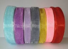 Organza Ribbon 7 colours 15mm 18mm 20mm width X 50 metres Wholesale Price