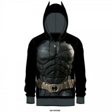 DARK KNIGHT TDKR COSTUME zip up HOODIE BATMAN ears sweatshirt S-M-L-XL 2XL XXL