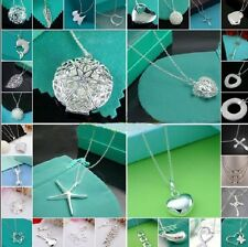 Wholesale Hot gift Lady Women Jewelry Solid 925silver Pendant Necklace Chain