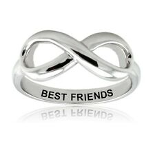 Sterling Silver 925 Best Friends Infinity Wedding Promise Ring