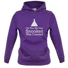 On The 8th Day Snooker Was Created - Kids / Childrens Hoodie - Pool - 8 Ball