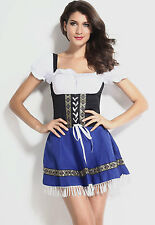 Oktoberfest beer maid costume Heidi ale girl waitress outfit 8-10-12-14-16-18
