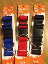 "ADJUSTABLE DOG COLLAR - X LARGE 1.5"" x 18"" - 30"" PET, INC. - BLUE - NEW"
