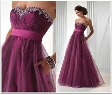 New Custom Long Evening Party Prom Gown Evening Formal Dresses Ball Gown