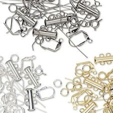 60 Pieces of Assorted Jewelry Making Findings for Earrings Bracelets Necklaces