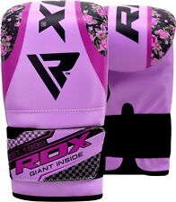 Auth RDX Rex Leather Boxing Gloves Fight Punch Bag MMA Muay Thai Grappling Pad U