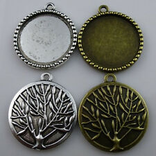 Vitality Tree of Life Round Base 25mm Cameo Setting Pendant Jewelry Finding