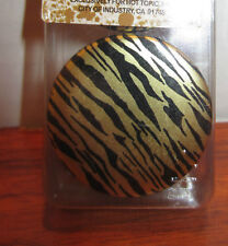 MORBID METALS GOLD ZEBRA EAR PLUG FROM HOT TOPIC DIFFERENT SIZES TO CHOOSE FROM