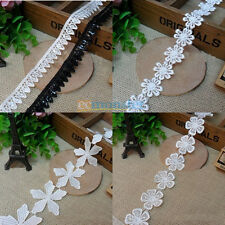 1Yard Bright Lines Water Soluble Lace Applique Fabric Sewing Trim Handmade DIY